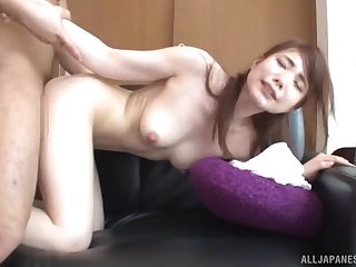 Japanese long haired beauty with small tits Hasegawa Rui fucked doggy