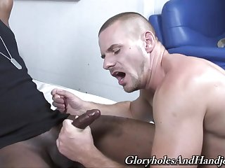 Bald white gay dude gets destroyed by a big black cock
