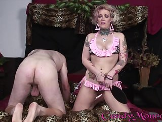 Candy Monroe cuckolds her man to fuck a big black cock
