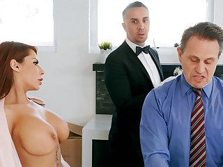 Randy waiter is ready forth anal fuck housewife