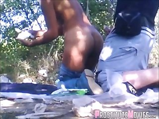 Hooker sex on the road thither cyclist