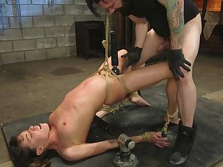 confined and horny girl Vera King gets the brush pussy banged by a ladies'