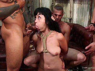 Asian MILF Marica Hase getting facials on touching an interracial threesome
