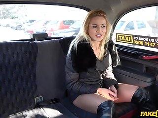 Cherry Kiss adores when the driver fucks her awry in the taxi