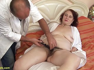 chunky granny fucked hard by her hairdresser