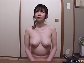 After dildo acceptable Japanese chick wants to feel friend's shaft
